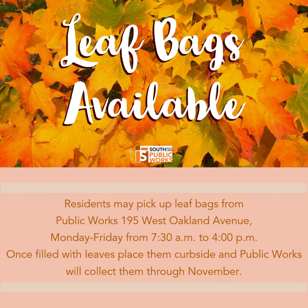 Leaf Bags Available